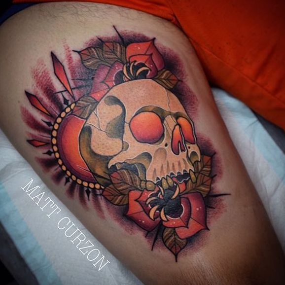 10 Outstanding Neo Traditional Skull Tattoos
