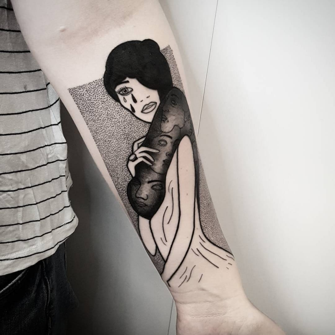 Creative yet Abstract Portrait Tattoos by Matteo Nangeroni