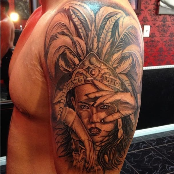 Impressive Aztec Tattoos Part 2