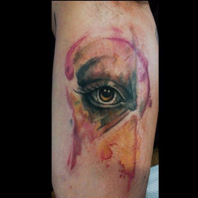 Nancy Tattooer's Dramatic Watercolor Tattoos