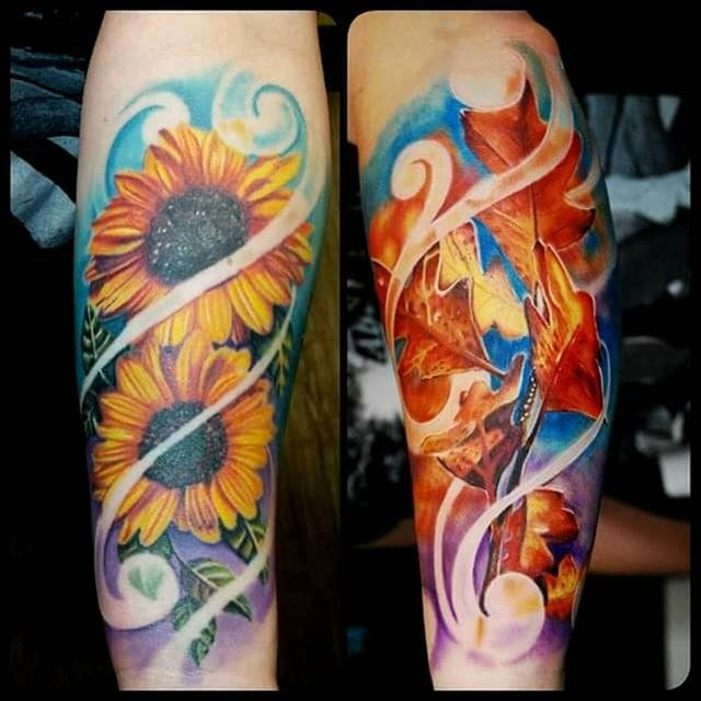 Intense Color Realism Tattoos by Justin Buduo