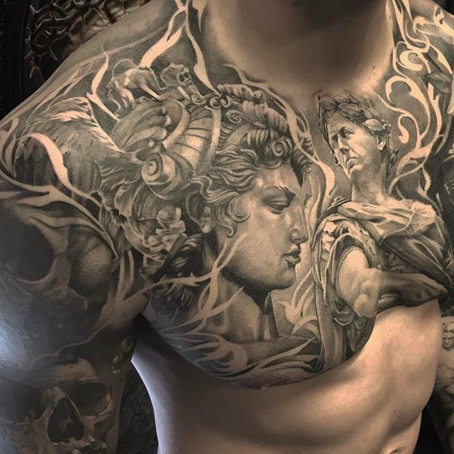Spectacular Black and Grey Tattoos by Ruben from Miks Tattoo