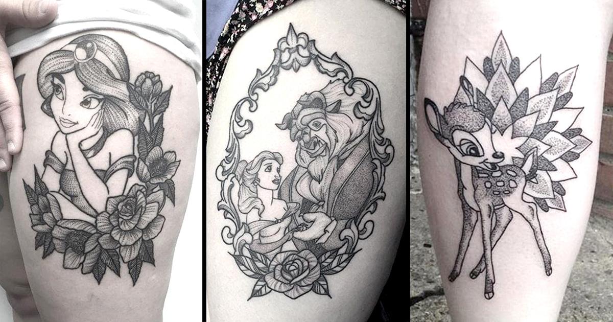The Lovely Dotwork Disney Tattoos Of Poppy Segger Tattoodo