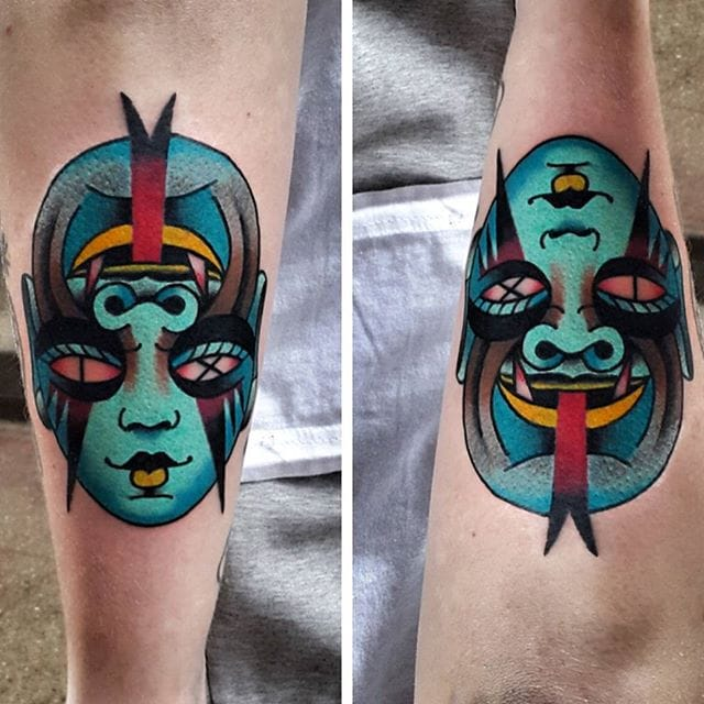 Graphic Traditional Tattoos by Łukasz Balon