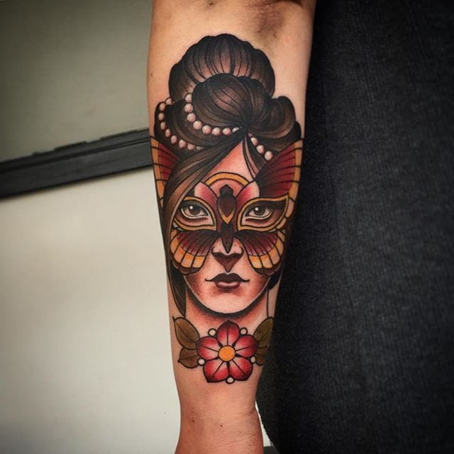 Neo Traditional Lady & Gent Tattoos by Fraser Peek