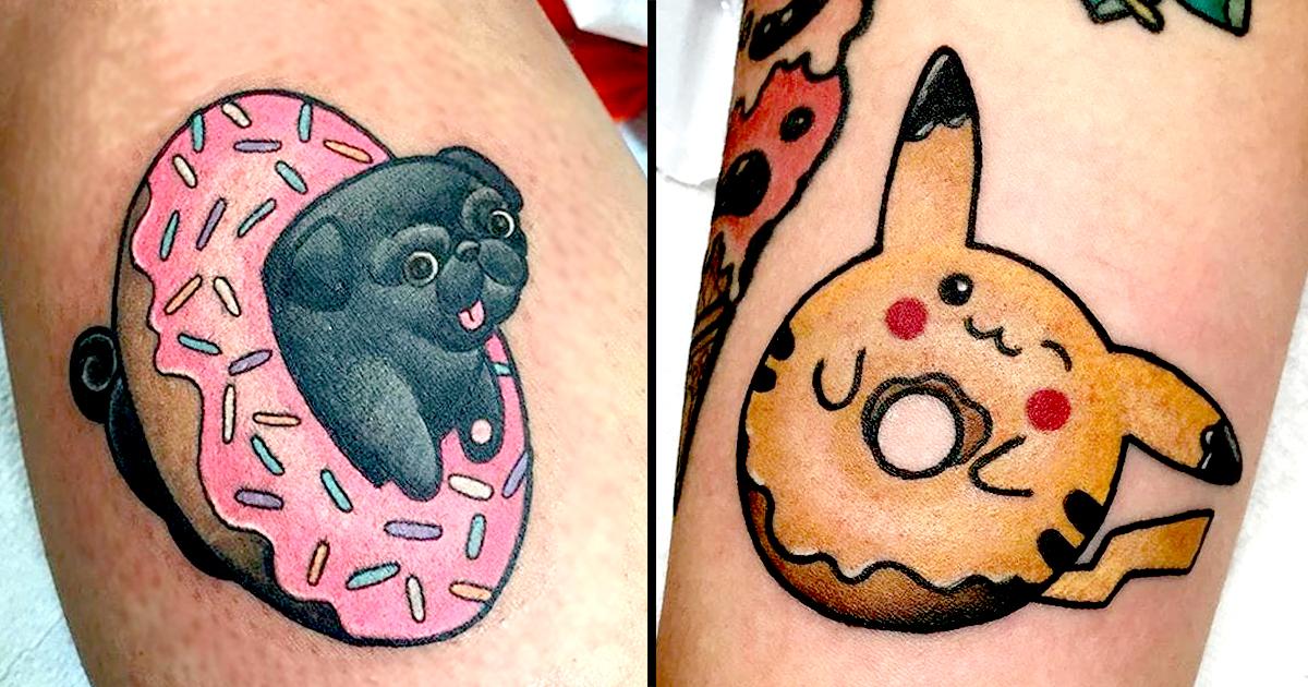 19 insanely adorable donut tattoos done at dolorosa tattoo studio tattoodo. Black Bedroom Furniture Sets. Home Design Ideas