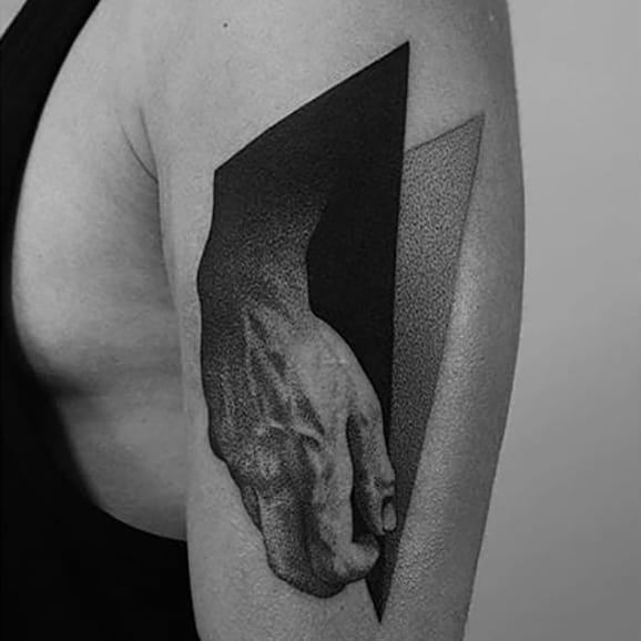 Sensual Geometric Pointillism Tattoos by Pawel Indulski