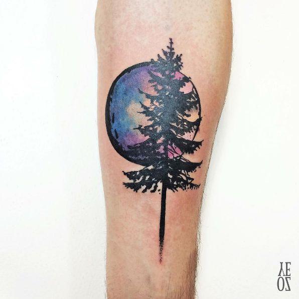 Magical Watercolor Tattoos by Yeliz Özcan