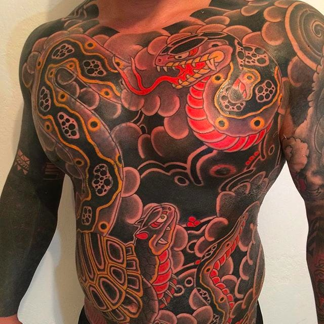 Bold and Classic Japanese Tattoos by Goshu