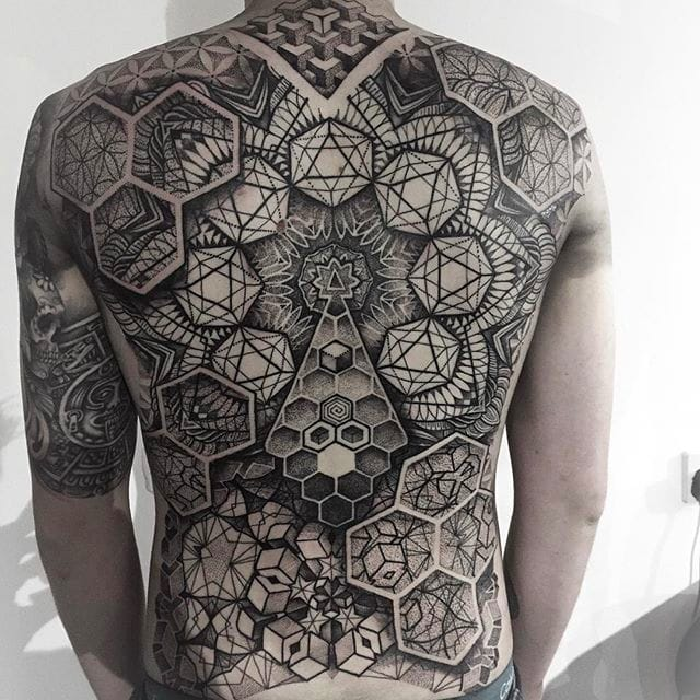 Stunning Geometric and Illustrative Tattoos by Paul Davies