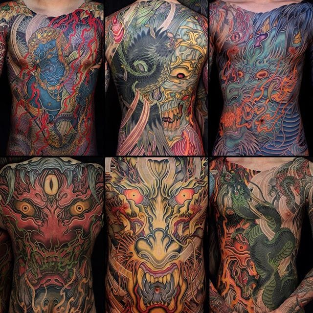 Spectacular Big and Bold Japanese Tattoos by Shiryu