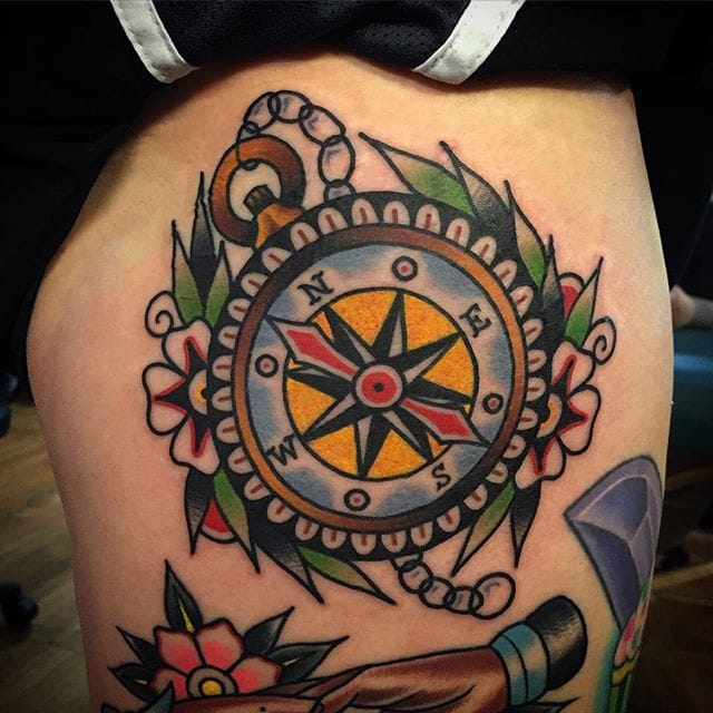 Find Your Way with These 8 Traditional Compass Tattoos