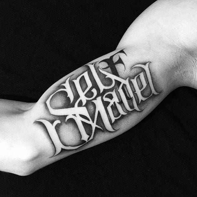 The Magnificently Versatile Lettering Tattoos Of Yuri Sata
