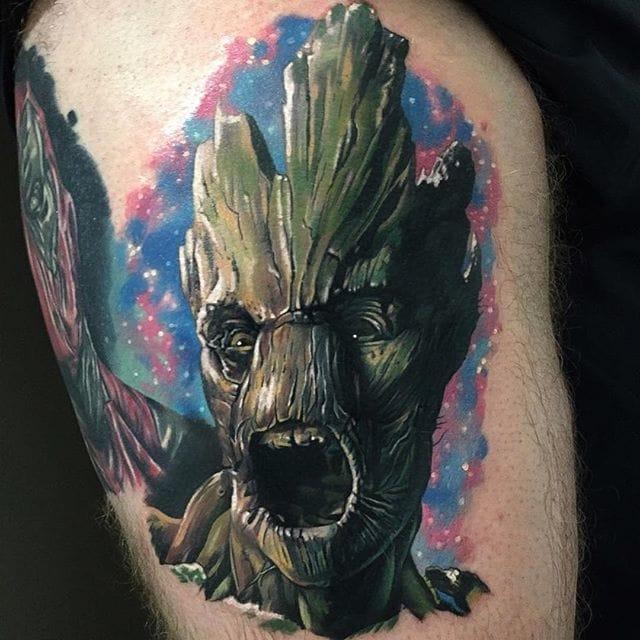 10 Humble Groot Tattoos