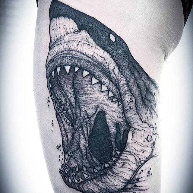 Fierce Illustrative Tattoos by Jean Carcass
