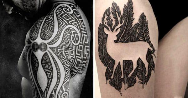 Creative Negative Space Tattoos