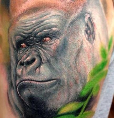 Who doesn't love a well done Gorilla tattoo??