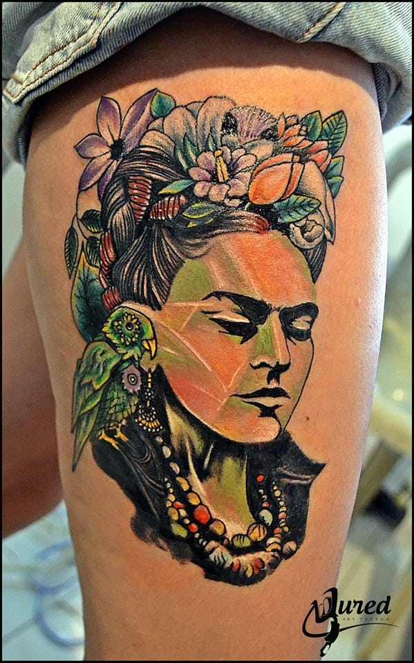 Beautiful effects in this tattoo by Edwin Ordonez.