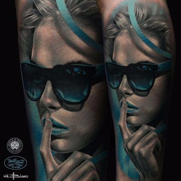 Vid Blanco's Powerful Photo Realism Tattoos with Minimal Color