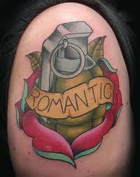 Romantic tattoo