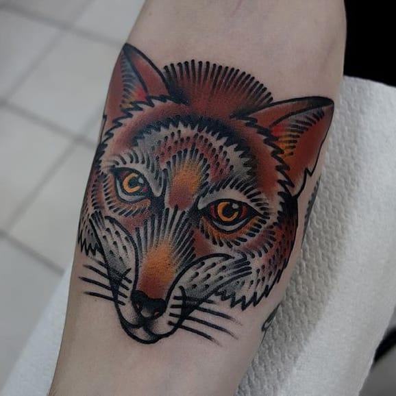 10 Delightful Traditional Fox Tattoos
