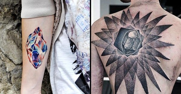 15 Sparkling Crystal Tattoos