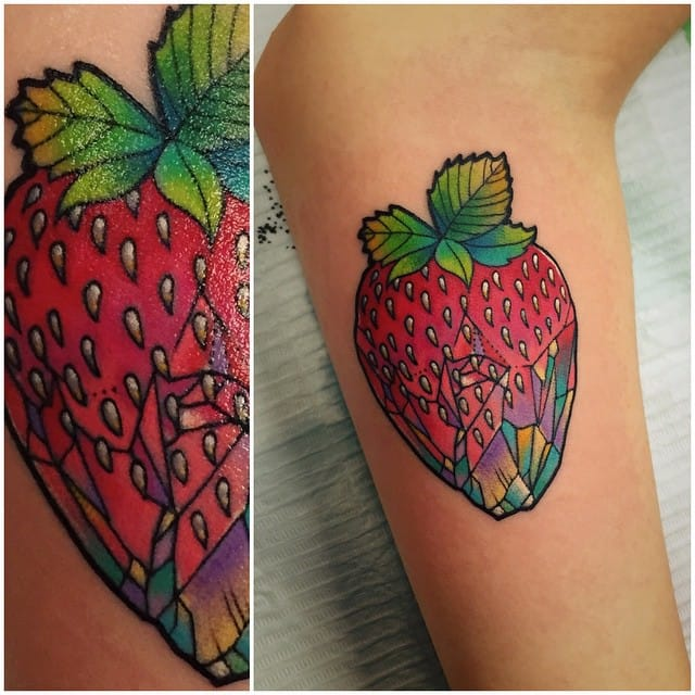 A strawberry turning into crystal by Katie Shocrylas.