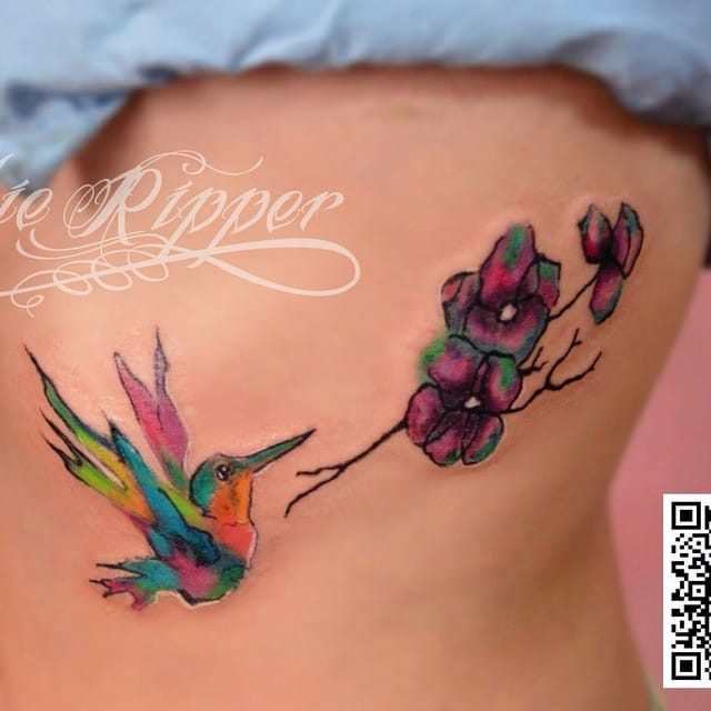 Wonderful Watercolor Tattoos by Debbie Ripper