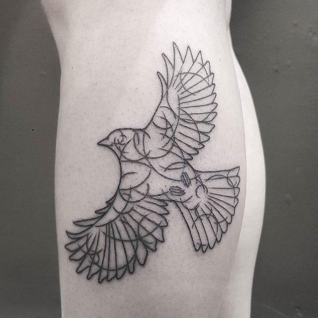 Beautiful Blackwork Tattoos by Fliquet Renouf