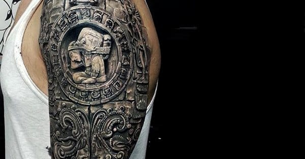 impressive aztec tattoos part 1 tattoodo. Black Bedroom Furniture Sets. Home Design Ideas