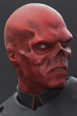 Mr Damon's goal is to look like Marvel character Red Skull, portrayed on screen by Hugo Weaving in 2011 film Captain America: The First Avenger