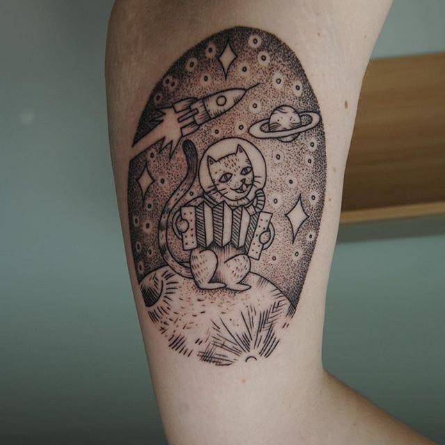 Fine Line Blackwork Tattoos by Alex Cfourpo