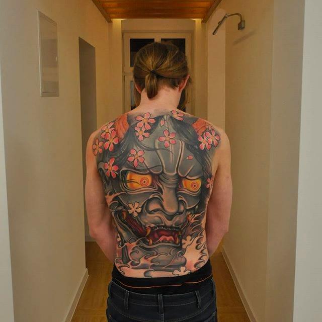 Fresh Neo Japanese Tattoos by Jaroslaw Baka