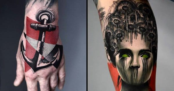 Spotlight: Unique Graphic Tattoos by Timur Lysenko