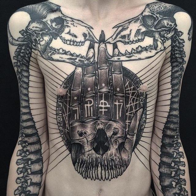 Mesmerizing Blackwork Tattoos by Dmitriy Divin