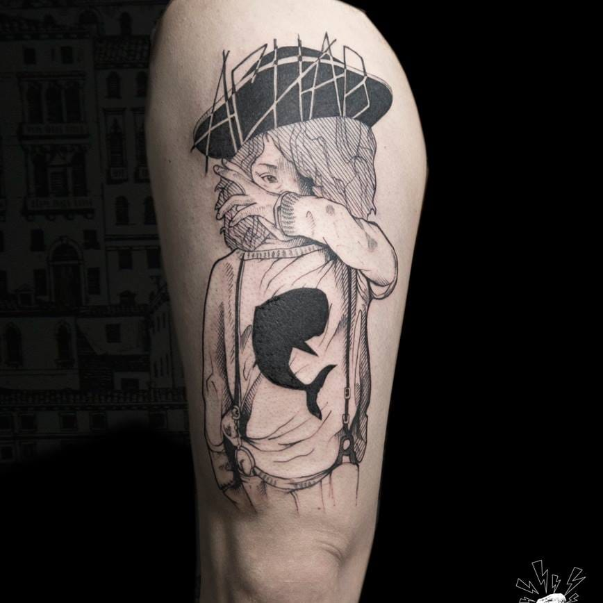 Poetic Illustrative Tattoos by Serena Caponera