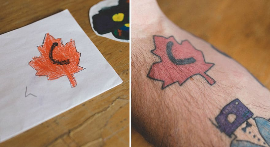 """""""No one I know has ever heard of tattooing original kid art before, and it's a lot of fun"""""""