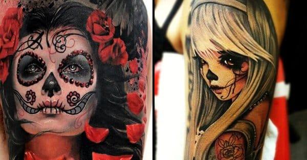 15 Gorgeous La Catrina Tattoos