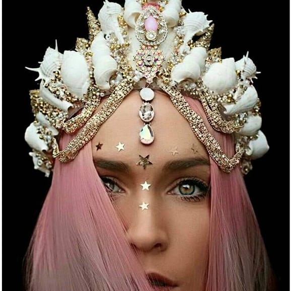 Tattooed Mermaids will Rule the Sea with these Stunning Mermaid Crowns