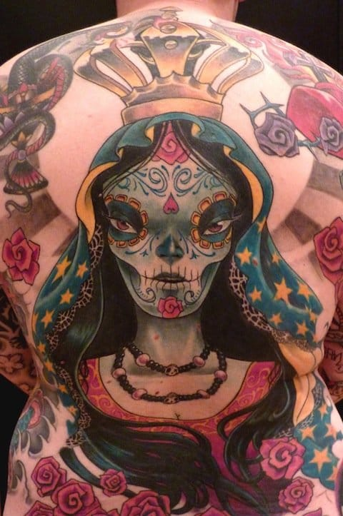 A stunning new school backpiece by Fred Laverne!