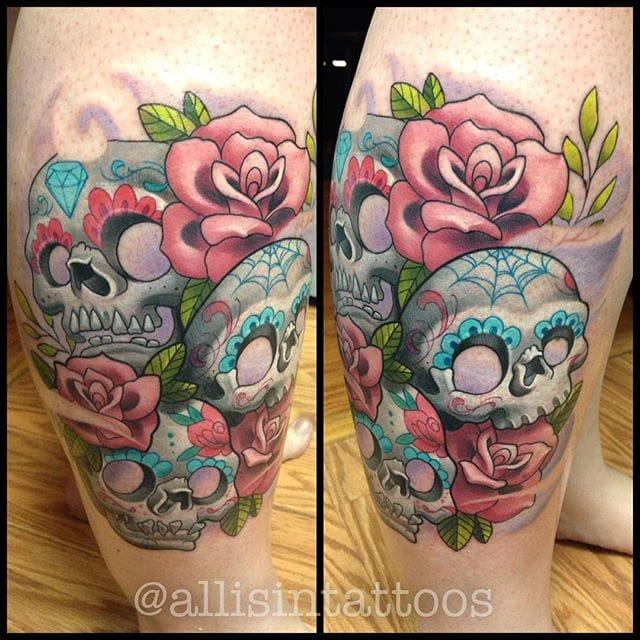 Cute & Girly New School Tattoos by Allisin