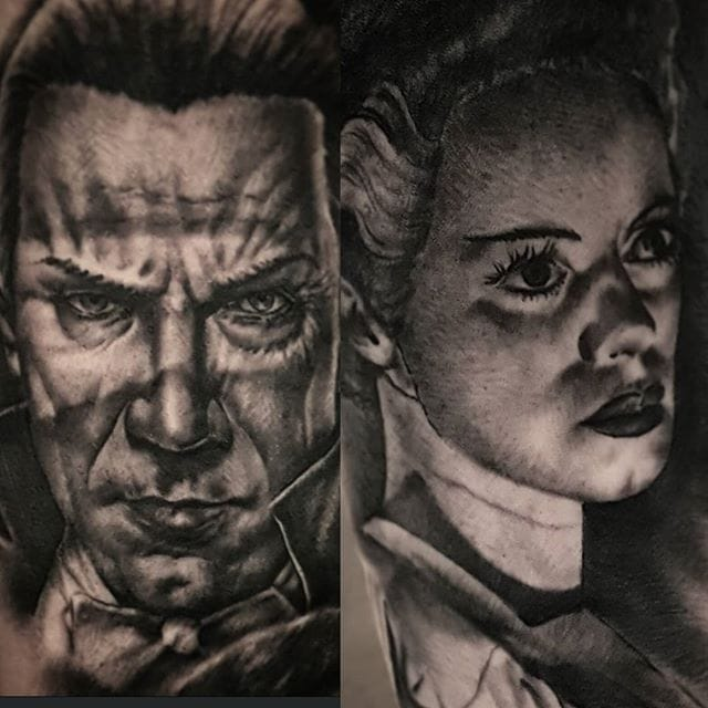 Black and Grey Realism Tattoos by Billy Raike