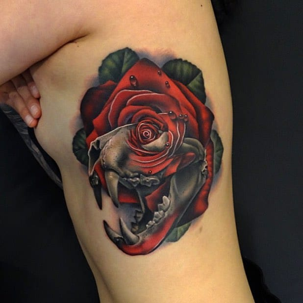 Incredibly Unique and Personalized Rose Tattoos by Andrés Acosta
