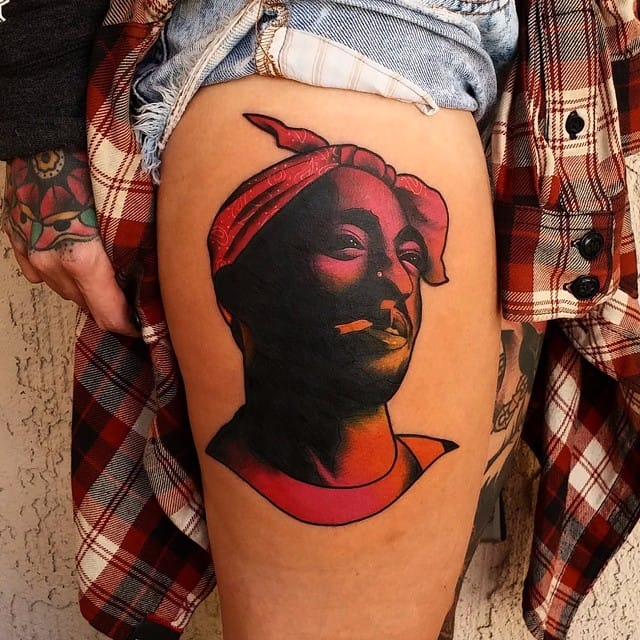 Gradient Portrait Tattoos by Ry Tang