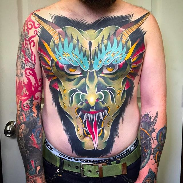 Incredible and Intense Traditional Tattoos by Tom Lortie
