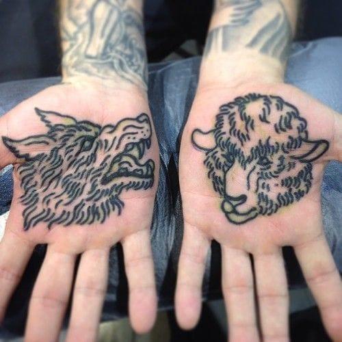 Sheep tattoo by Tony Hundahl