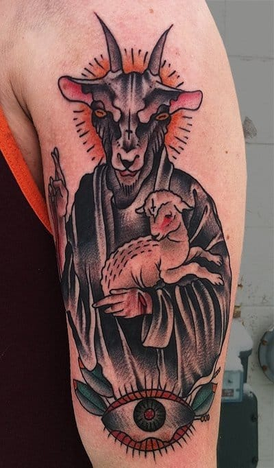 Sheep tattoo
