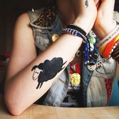 Cute sheep tattoo