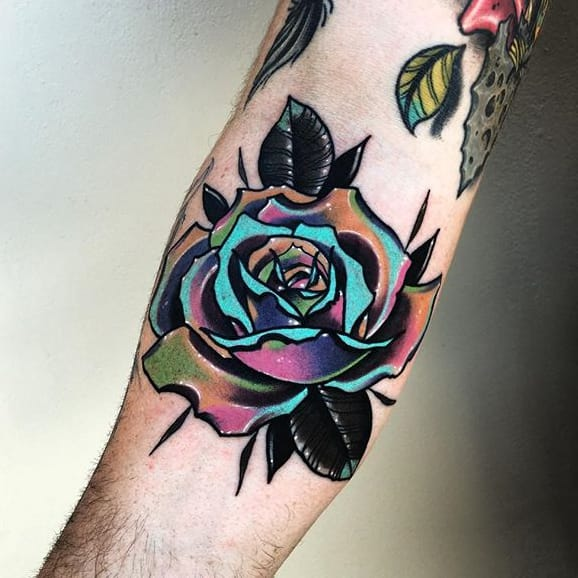 Surreal Rose Tattoos by Little Andy