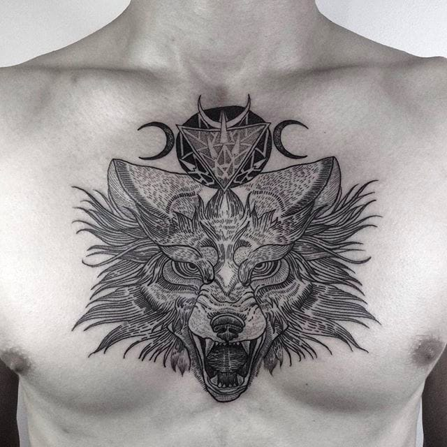 Detailed and Fine Blackwork Tattoos by Silwou